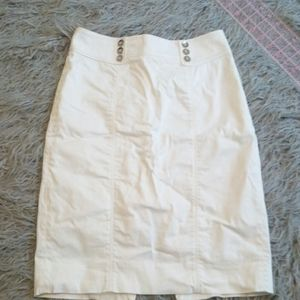 White high waist pencil skirt